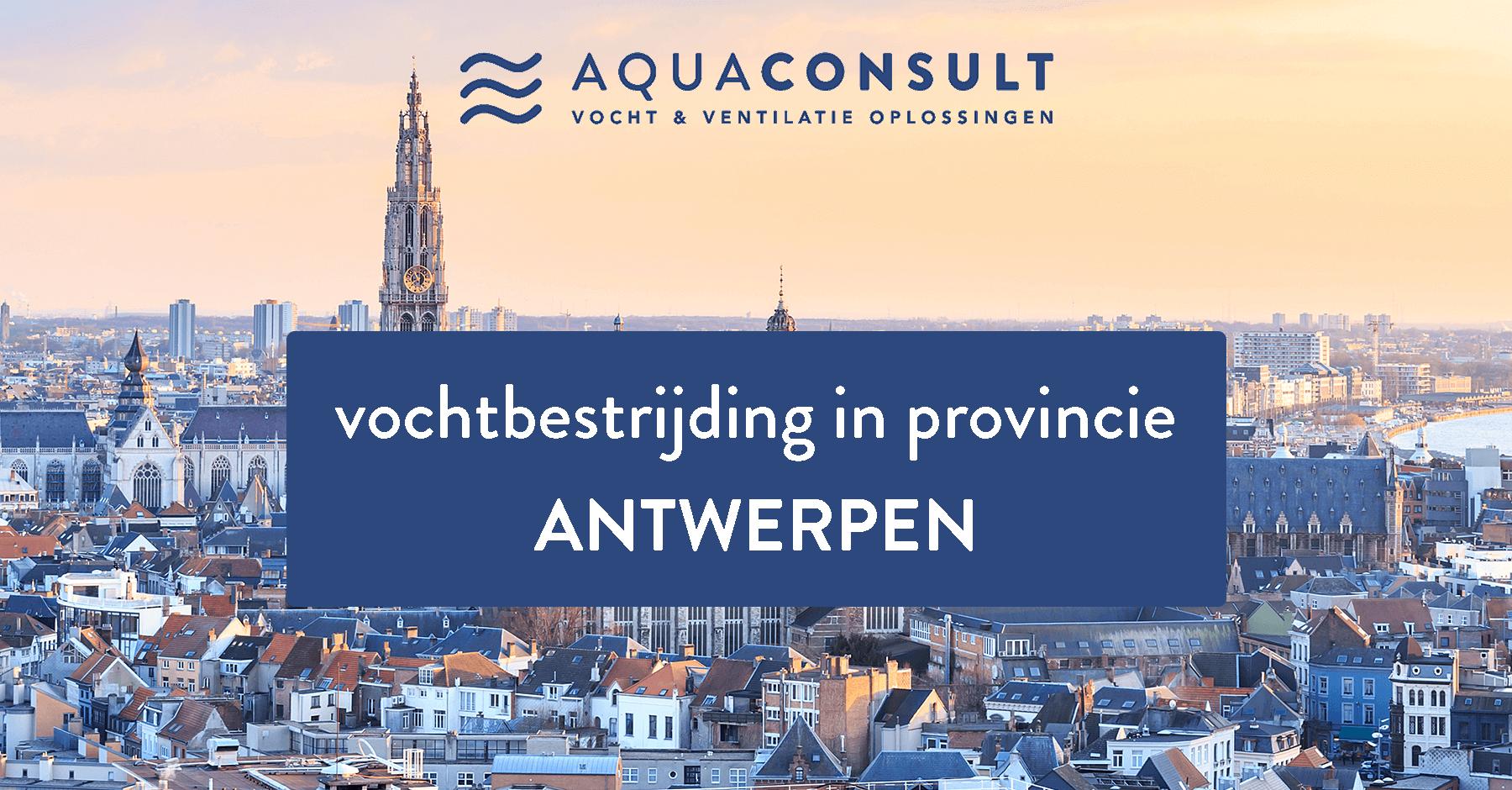 Vochtbestrijding in provincie Antwerpen